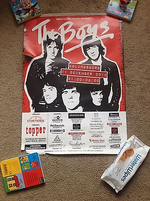 The Boys Punk Rock Original Concert Poster Very Rare From Sweden!