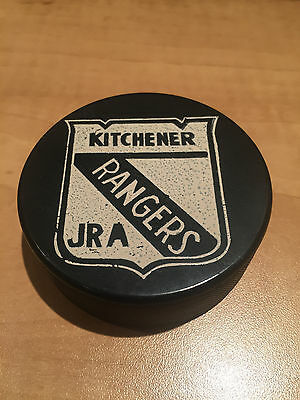 OHL Puck - Kitchener Rangers Jr A Vintage Puck - NM -