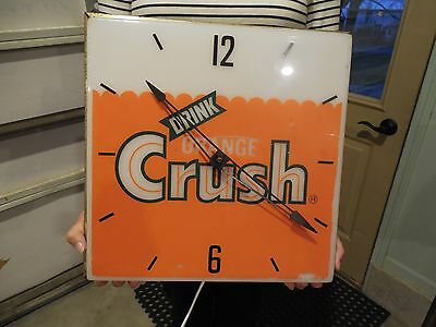 Original 1972 Orange Crush Pam Clock Runs And Keeps Time New Bulb & Cord