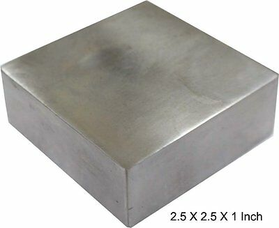 "Solid Steel Bench Block Jewelers Metal Working 2 1/2"" x 2 1/2"" x 1"" Anvil"