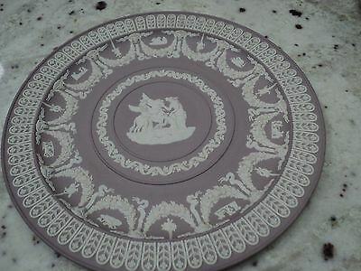 "Incredible Wedgwood Liliac dipped Jasperware 8 .75"" Selene trophy plate"