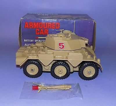 * Rare * Never Played With Mint Boxed * Marx * Battery Operated Armoured Car *