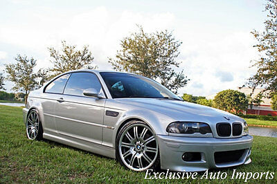"""2002 Bmw M3 2002 Bmw E46 M3 Coupe 6-Speed Manual 19"""" Upgraded 2002 Bmw E46 M3 Coupe Silver On Imola Red 6-Speed Manual 19"""" Upgraded Rare! Wow!"""