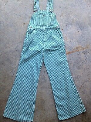 Vintage Green Striped Bell Bottom Overalls Tacky Christmas Spirit St Patty's