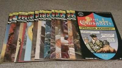 LOT OF 17 CHICK PUBLICATIONS THE CRUSADERS RELIGIOUS COMICS 1974 volumes 1-17.