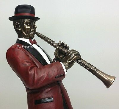 JAZZ BAND COLLECTION  - CLARINET PLAYER Home Decor Statue Sculpture Figurine