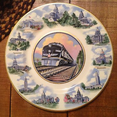 Missouri Pacific Route Of The Eagles State Capitols China Plate - Syracuse