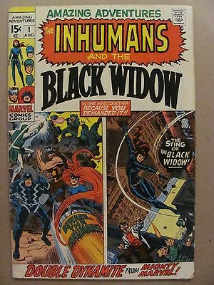 Amazing Adventures #1 Marvel 1970 Series Inhumans & Black Widow Jack Kirby
