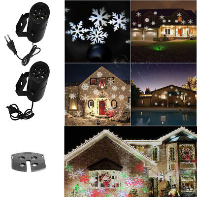 White Moving Snowflake Snow Projector Lamps LED Stage Light For Christmas Party