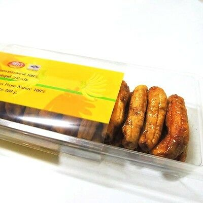 Banana Dried Fruit Sweet Natural 100% Thai Snack Delicious Food preservation