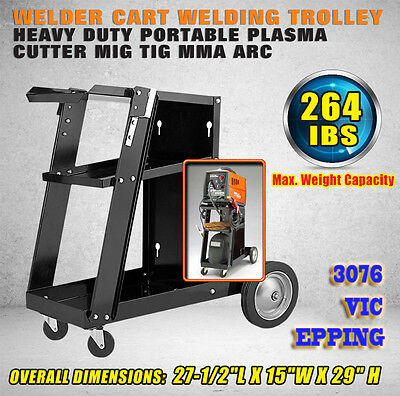 Welding Cart Trolley Welder Storage Bench Mig Tig Arc MMA Plasma Cutter New