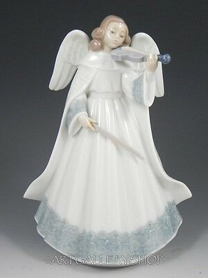 Lladro Figurine ANGELIC VIOLINIST TREE TOPPER WITH VIOLIN #6126 Retired Mint