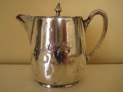 CPR Canadian Pacific Railway Silver Marlboro Plate Chocolate Pot Pitcher Creamer