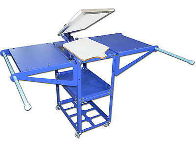 Heat Press Machine Rack Metatl Hang Commodity Shelf Work Table Movable Material