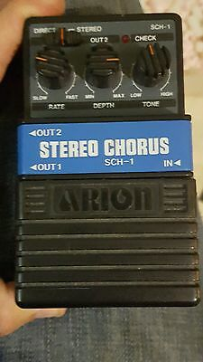 80s Arion SCH-1 STEREO CHORUS EARLY GRAY BOX PEDAL VINTAGE MIJ FREE USA SHIPPING