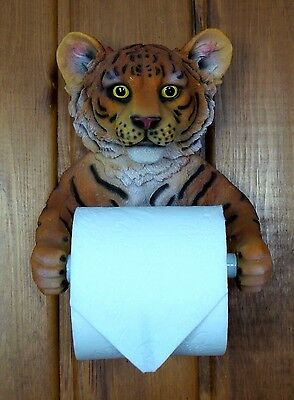 Bengal Tiger Toilet Paper Holder Wild Cat Collectible Home Decor