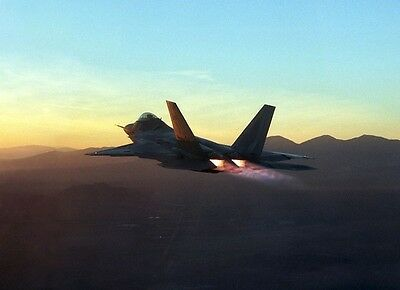 "F-22 Raptor Fighter Jet Edwards Air Force Base 13""x 19"" Iraq War Photo Poster 56"