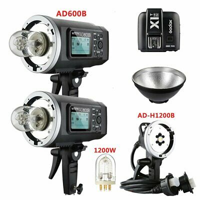 2X Godox AD600B TTL HSS Flash Strobe + AD-H1200B Flash Head + X1T-N for Nikon