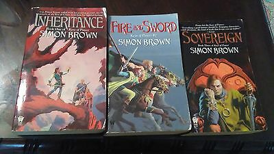 Lot Of 3 Keys Of Power Books By Simon Brown - Complete Trilogy