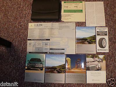 2012 Mercedes E Class Coupe Cabriolet 350 550 Owners Manual Books Nav Label Case