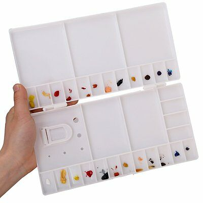 Flip Plastic Watercolor Palette Box Hard Lid Paint Tray Palette 25/33 well