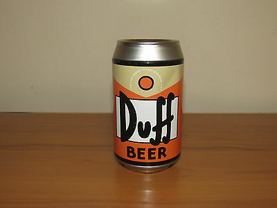 THE SIMPSONS DUFF BEER CAN CANNISTER CONTAINER with playing cards