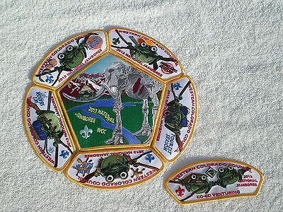 2013 Jamboree Western Colorado Council 7-Patch Set  .....Get Ready for 2017