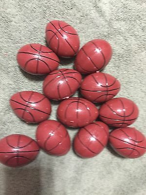 12 New Basketball Plastic Eggs Easter Baby Showers Party Favor Craft