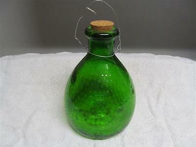 Vintage Country Collectible Green Glass Fly Catcher Bottle