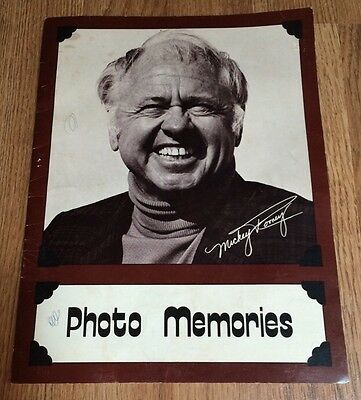 RARE Mickey Rooney Photo Memories Book - Signed / Autographed