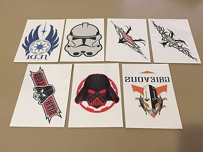 Star Wars - Revenge Of The Sith - Temporary Tattoos Chase Card LOT of 7 - NM