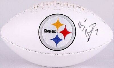 Ben Roethlisberger Signed Autographed Steelers Logo Football