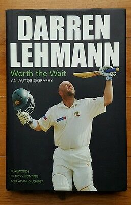 DARREN LEHMANN SIGNED AUTOGRAPHED 'Worth the Wait' Hardcover An Autobiography