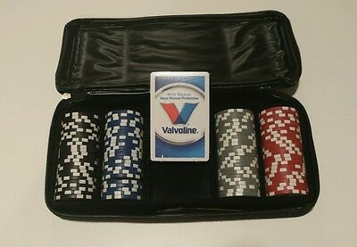 Valvoline 100 Piece Poker Casino Chip Set with Carrying Case & Cards