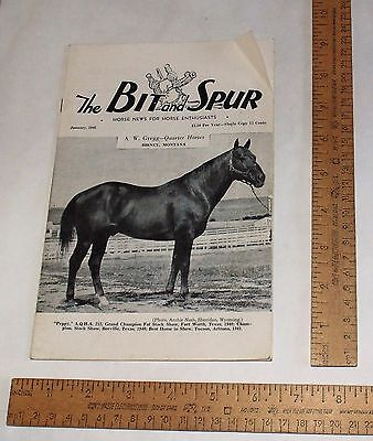 JAN., 1946 - The BIT and SPUR - Horse News For Horse Enthusiasts - Magazine
