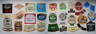 Beer Labels Russia lot used Guinnes Tuborg Amsterdam Efes Zwei Meister