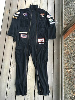 RARE Vtg 90s AC/DC Razor's Edge Tour Crew Staff Coveralls Flight Suit Embroidere