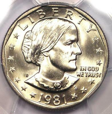 1981-S Susan B Anthony Dollar SBA $1 - Certified PCGS MS66 - $550 Value!