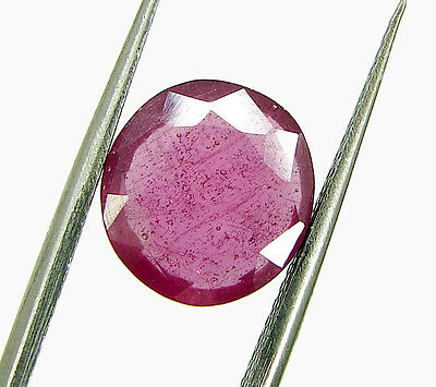 3.90 Ct Certified Beautiful Natural Ruby Loose Oval Gemstone Stone - 112714