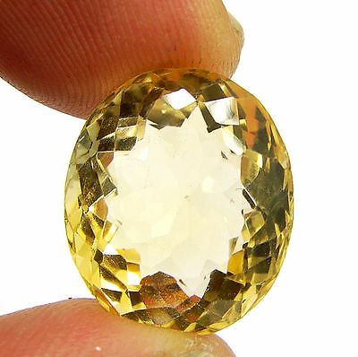 16.70 Ct Natural Citrine Loose Gemstone Oval Cut Beautiful Stone - 10596