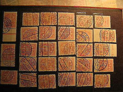 Latvia  used stamps Different cities cancelled  Good condition lot-14