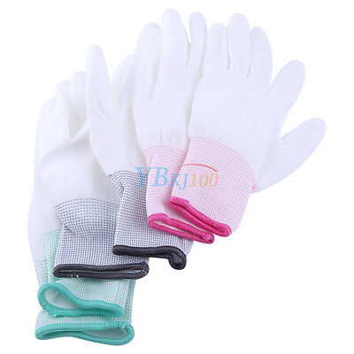 S/M/L PU Finger Coated Safety Anti Static Antiskid ESD Electronic Working Gloves