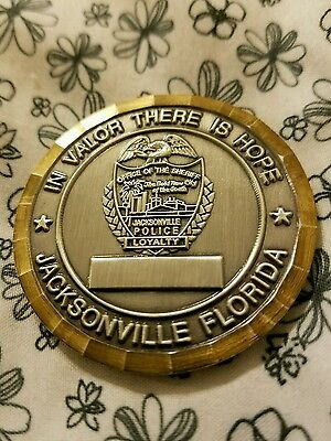 Jacksonville Police Dept Honor Guard challenge coin
