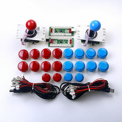 Arcade Stick 4 In 1 USB Connector PS3 / PC Games Encoder Board Cable Button Wire