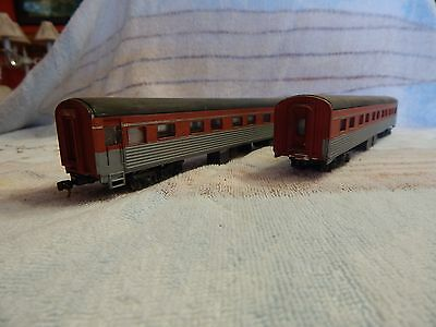 2 x LIMA Southern Aurora Carriages, Painted Up Like Overland Cars