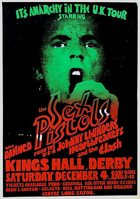 The Sex Pistols & The Damned * Anarchy in the U.K. * Concert Poster Poster 1976