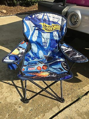 Hot Wheels Toddler/Kids Folding Collapsable Tailgating Camp Chair  RARE