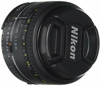 New AF FX NIKKOR 50mm f/1.8D Lens with Auto Focus for Nikon DSLR Cameras