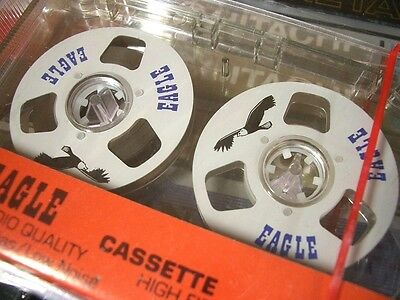 "One Reel To Reel Eagle C-15 Blank Audio Cassette Tape New! SEALED! Vintage 80""s!"