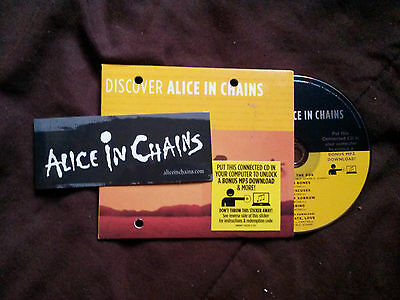 Alice in Chains: Discover Alice in Chains RARE 2007 connected cd+promo magnet